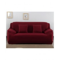 Knit that Fits 5 Seater Sofa Cover - Maroon