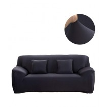 Knit that Fits 7 Seater Sofa Cover - Black