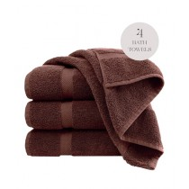 Knit that Fits Cotton Bath Towel Brown - Pack Of 4
