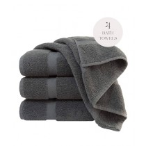 Knit that Fits Cotton Bath Towel Dark Grey - Pack Of 4