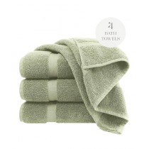 Knit that Fits Cotton Bath Towel Green - Pack Of 4