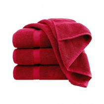 Knit that Fits Cotton Bath Towel Red - Pack Of 4