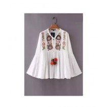 KS Collection Embroidered Shirt For Women (0008)
