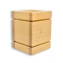 Kureshi Collections Wooden Stationery Box Stand Brown (OS2005)