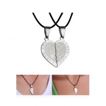 Kureshi Collections Heart Broken Pendant Silver