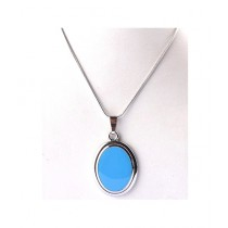 Kureshi Collections Oval Shape Pendant For Women's Blue (0275)
