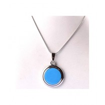 Kureshi Collections Round Shape Pendant For Women's - Blue (0272)