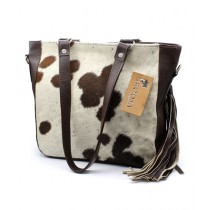Uroosa Cow Hide Ladies Bag Multicolor (004)