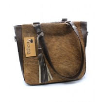 Uroosa Cow Hide Ladies Bag Multicolor (008)