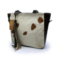 Uroosa Cow Hide Ladies Bag Multicolor (009)