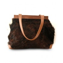 Uroosa Cow Hide Ladies Bag Multicolor (012)