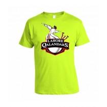 Sale Out PSL Lahore Qalandars Half Sleeves T-Shirt Green