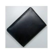 Le Conceptuer Leather Card Holder For Men Black