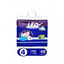 Leo Blue Baby Diaper Large 7-18 KG Pack Of 48