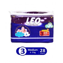 Leo Blue Baby Diaper Regular Medium 4-9 KG Pack Of 28