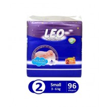 Leo Blue Baby Diaper Small 3-6 KG Pack Of 96