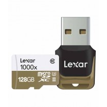 Lexar 128GB Professional 1000x UHS-II microSDHC Memory Card With Card Reader