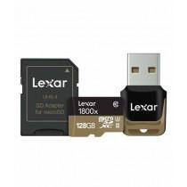 Lexar 128GB Professional 1800x UHS-II microSDXC Memory Card With Card Reader