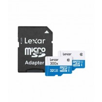 Lexar 32GB High-Performance UHS-I microSDHC Memory Card With Card Reader (2-Pack)
