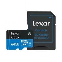 Lexar 64GB High-Performance 633x microSDXC Memory Card With SD Adapter