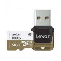 Lexar 64GB Professional 1000x UHS-II microSDHC Memory Card With Card Reader