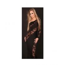 Lovers Dress Polyester Evening Dress For Women Black