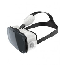 Lucid Creative VR 3D Glasses With Headphone White & Black (Z4)