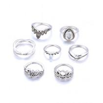 Luxurify Bohemian Vintage Ring Set For Women 7pcs
