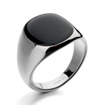 Luxurify Onyx Stones Crystal Ring For Men - Black