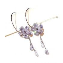 Luxurify Crystal Flower Earrings For Women