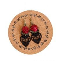 Luxurify Rose Flower Earrings For Women