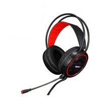 M & S USB Gaming Headphone LED Rainbow Light Red (HS-12)
