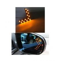 M.Mart Arrow Panel Mirror Indicator Signal Light For Car