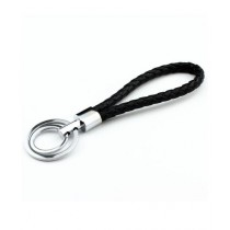 M.Mart Leather Strap Double Key Chain Ring