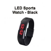M.Mart LED Sport Watch For Boys Black (0288)
