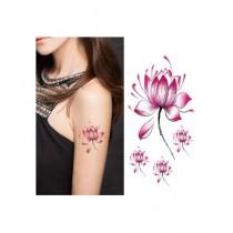 M.Mart Temporary Body Art Lotus Flower Tattoo