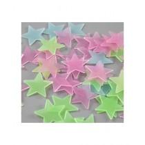 M.M Trader Night Glowing Stars Wall Sticker - 100 Pcs