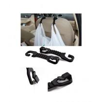 M.Mart 2 Pcs Plastic Car Bag Holder Seat Hook Hanger (0254)