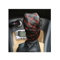 M.Mart Faux Leather Hand Brake Shift Gear Cover For Car Decor