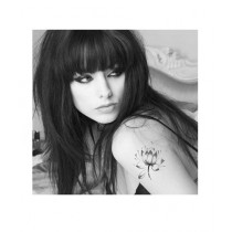 M.Mart Temporary Tattoos Water Lily Lotus Flower