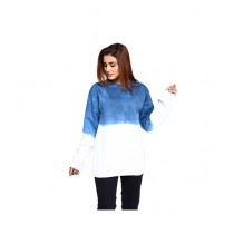 Marck And Jack Sweatshirt For Women Ink Blue ombre (M&J-WF12)