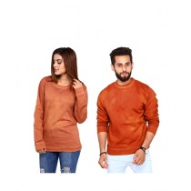 Marck And Jack Sweatshirts For Couple Brown (M&J-WF27)