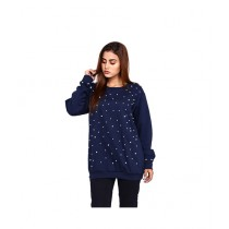 Marck And Jack Pearl Embellished Top For Women Navy Blue (M&J-WF6)