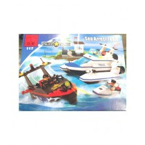 M Toys 450 Pcs Marine Police Blocks Set