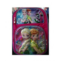M Toys Anna & Elsa 3D-Cartoon Character School Bag For Montessori