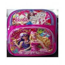 M Toys Barbie Pink 3D-Cartoon Character School Bag For Montessori