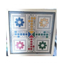M Toys High Quality 4 Player Wooden Ludo - Large
