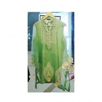 Madiha Vaswani Embroidered Organza Women's Kurti Green (MV-0001)