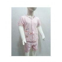 Madina Fashion Casual Sleeping Suit For Boys Pink