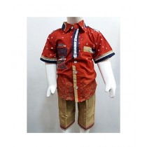 Madina Fashion Cotton Shirt With Short For Boys Multicolor